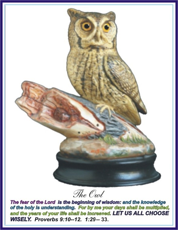 The Owl Ceramic Sculpture