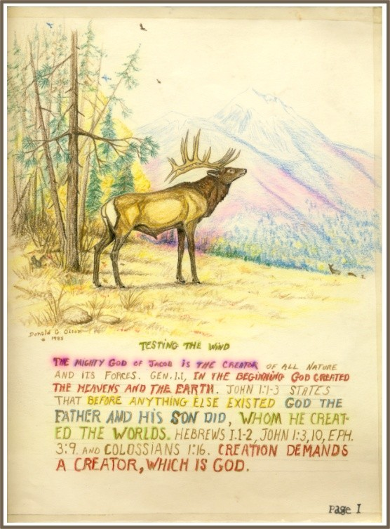 ELK, COLOR PENCIL 1985 THOUGHTS