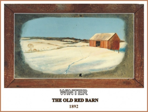 WINTER, THE OLD RED BARN