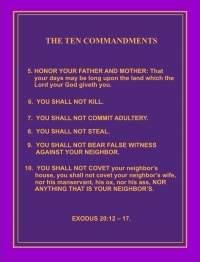THE TEN COMMANDMENTS 5 -- 10