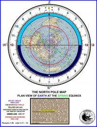 North Pole Map Spring Equinox